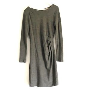 Banana Republic grey know back zip dress